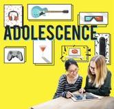 För ungdomkultur för tonårstid ungt vuxet begrepp för livsstil arkivfoto