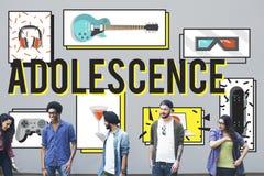 För ungdomkultur för tonårstid ungt vuxet begrepp för livsstil arkivbild