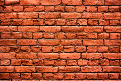 för upplösningstextur för tegelsten hög röd vägg Royaltyfri Fotografi