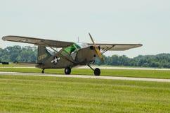 För USA-armé för gräshoppa L2 flygplan Fotografering för Bildbyråer