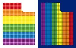 För Utah för spektrum PIXEL prucken översikt stat stock illustrationer