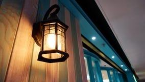 För vägglampa för tappning ljus belysning för hem inomhus Arkivbilder