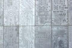 För väggTech för textur betong cementerad vetenskap Royaltyfria Foton