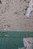 För väggtextur för Closeup abstrakt bakgrund med sprucken målarfärg Royaltyfri Foto