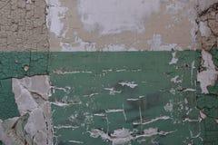 För väggtextur för Closeup abstrakt bakgrund med sprucken målarfärg Royaltyfri Fotografi