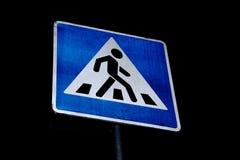 för vägmärketon för vinkel blå sikt wide Royaltyfria Bilder