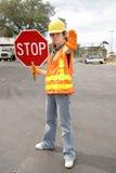 för vägstopp för lag full sikt royaltyfria bilder