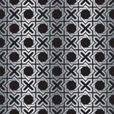 För vävbakgrund för sömlös abstrakt silver metallisk modell vektor illustrationer