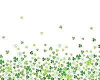 För växt av släktet Trifoliumtreklövern för gräsplan som gränsar plana sidor isoleras på vit bakgrund, för dag för St Patrick ` s vektor illustrationer