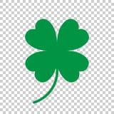 För växt av släktet Trifoliumvektor för fyra blad symbol Illu för symbol för växt av släktet Trifoliumkontur enkel royaltyfri illustrationer