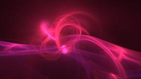 För vågabstrakt begrepp för varma rosa färger glödande bakgrund vektor illustrationer