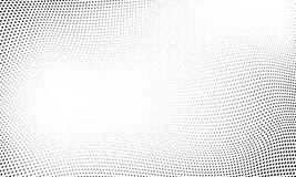 För vågmodell för prick rastrerad bakgrund för abstrakt begrepp stock illustrationer