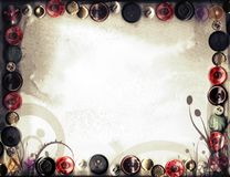 För vårbakgrund för Sepia blom- Retro Grunge Arkivbilder