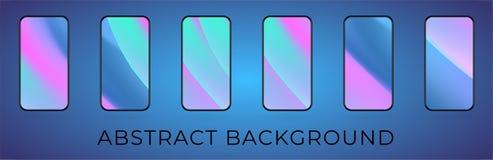 För vårfärger för vektor mobil bakgrund för krabbt hologram royaltyfri illustrationer