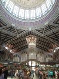 För valencia för central marknad som mat shopping bying fotografering för bildbyråer