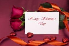 För valentin` s för vykort lycklig dag Royaltyfria Foton