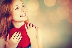 För valentin` s för kvinna väntande på dag Fotografering för Bildbyråer