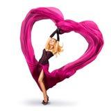 för valentinkvinna för hjärta silk barn Royaltyfria Foton