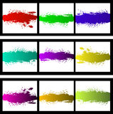 för valfärgstänk för bakgrund färgrik vektor royaltyfri foto