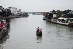By för vatten för forntida stad för Shanghai zhujiajiao Royaltyfri Bild