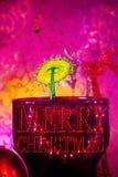 För vattendroppe för glad jul en bild arkivfoton