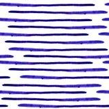 För vattenfärgband för vektor sömlös modell Abstrakta grungelinjer Royaltyfri Fotografi