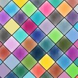 För vattenfärgmålning för diamant mönstrad bakgrund vektor illustrationer