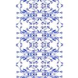 För vattenfärgtextur för vektor blom- modell med blommor Blom- modell för vattenfärg Fotografering för Bildbyråer