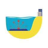 För vattenturbin för alternativ energi illustration för vektor Fotografering för Bildbyråer
