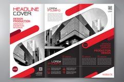För veckreklamblad för broschyr 3 mall för design a4 Fotografering för Bildbyråer