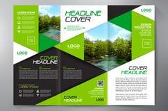För veckreklamblad för broschyr 3 mall för design a4 Arkivbilder