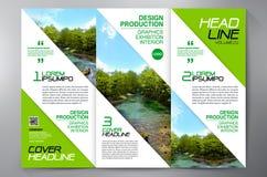 För veckreklamblad för broschyr 3 mall för design a4 Arkivbild