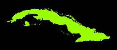 För vektoröversikt för Kuba grön kontur vektor illustrationer