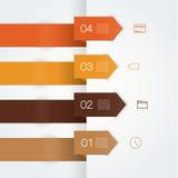 För vektor mall colorfully. Fyra rena pilar med stället för dig Vektor Illustrationer