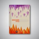 För vektorabstrakt begrepp för tappning Retro broschyr, bok, reklambladdesigntempl Arkivfoton