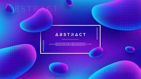 För vektorbakgrund för abstrakt vätska vätskedesign Blå abstrakt 3D, purpurfärgad rosa bakgrund vektor illustrationer