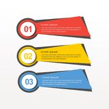 För vektorbaner för färgrik infographic design moderna samlingar royaltyfri illustrationer