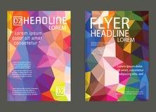 För vektorbroschyr för abstrakt triangel geometrisk mall Reklamblad Layo Royaltyfri Foto