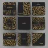 För vektorbroschyr för blom- prydnad mall Reklamblad vektor illustrationer