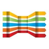 För vektordesign för färgrika pilar fastställda beståndsdelar Arkivbild