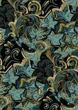 För vektordesign för murgröna trädgård för modell för färgrik för blomma för konst för målning tapet för garnering sömlös royaltyfri illustrationer
