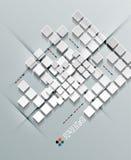 för vektorfyrkanter för papper 3d design royaltyfri illustrationer