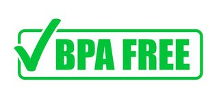 För vektorgräsplan för BPA fri symbol för fläck för kontroll Naturlig matpackestämpel, sund fri säker skyddsremsastämpel för BPA stock illustrationer