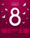 8 för vektorhälsning för mars kort Royaltyfria Bilder