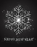 För vektorhälsning för lyckligt nytt år mall för kort Royaltyfria Foton