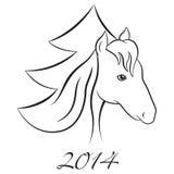 För vektorhäst för nytt år bakgrund Royaltyfri Foto