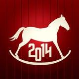 För vektorhäst för nytt år bakgrund Arkivbild