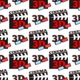 För vektorillustration för bio 3d modell för teater för stad för underhållning för film sömlös Arkivbild