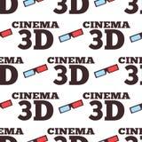 För vektorillustration för bio 3d modell för teater för stad för underhållning för film sömlös Arkivbilder