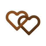 För vektorillustration för hjärta fabulerar kakan isolerade par för förälskelse kexet isolerade frukosten för den söta efterrätte vektor illustrationer
